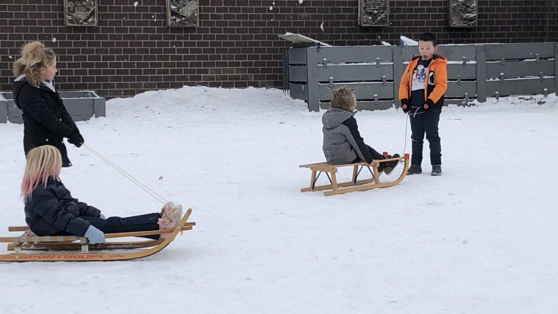 Hoekenwerk in de sneeuw!